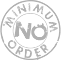 No minimum order stamp