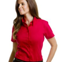 Short Sleeve Ladies Corporate Oxford Blouse
