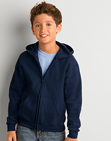 GILDAN Heavyweight Blend Youth Full Zip Hooded Sweatshirt