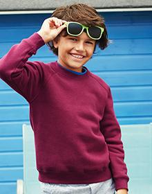 FRUIT OF THE LOOM Kids Raglan Sweatshirt